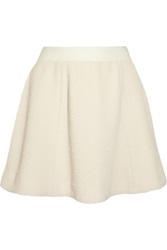 Elizabeth And James Alanis Textured Stretch Knit Mini Skirt White