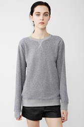 Sunspel Loopback Long Sleeve Crewneck Sweatshirt Grey Navy White