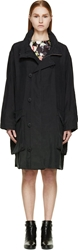 Mcq By Alexander Mcqueen Black Parachute Silk Oversize Military Coat