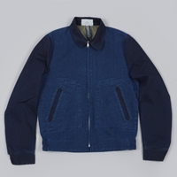 Paul Smith Red Ear Zip Front Jacket Indigo