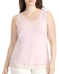 Ralph Lauren Plus Sheer Hem Jersey Tank Pale Rose