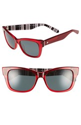 Women's Kate Spade New York 'Alora' 53Mm Polarized Sunglasses Cherry