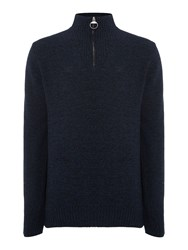Barbour Men's Essential Lambswool Half Zip French Navy