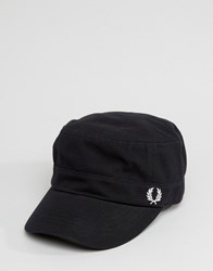 Fred Perry Pique Drivers Cap Black