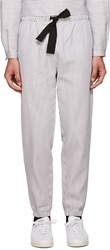 Phoebe English Grey And White Striped Lounge Pants