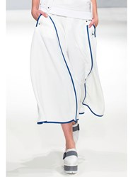 Jamie Wei Huang Culottes With Calbolt Leather Trim White