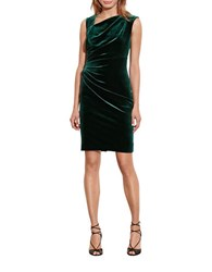 Lauren Ralph Lauren Stretch Velvet Sheath Dress Forest Green