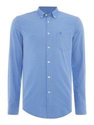 United Colors Of Benetton Two Pocket Checked Long Sleeve Shirt Blue