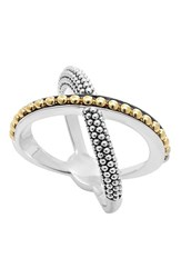 Women's Lagos 'Enso' Caviar Crossover Ring
