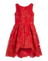 Zoe Sleeveless Lace Pleated A Line Dress Red Size 7 14 Girl's Size 12