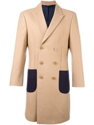 Lc23 Patch Pockets Double Breasted Coat Nude Neutrals