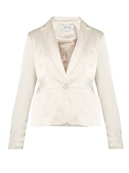 Elizabeth And James Rory Single Breasted Duchess Satin Jacket Ivory