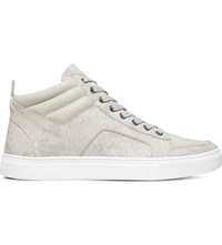Kg By Kurt Geiger Kurtis Snakeskin Effect Trainers Grey