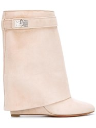 Givenchy 'Shark Lock' Ankle Boots Nude Neutrals