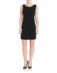 Jessica Simpson Embellished Drape Front Dress Black