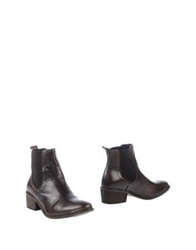 Pieces Ankle Boots Dark Brown