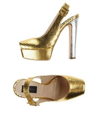John Richmond Sandals Gold
