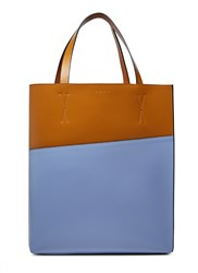 Marni Museo Leather Tote Bag Brown