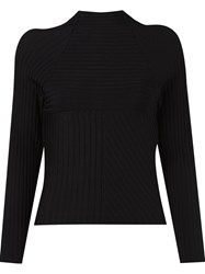 Giuliana Romanno Longsleeved Tricot Blouse Black