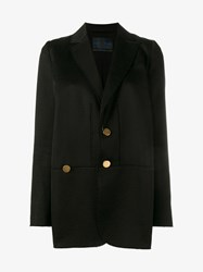 Proenza Schouler Asymmetric Wool Blazer Black Red