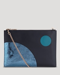 Whistles Clutch Bloomingdale's Exclusive Rivington Navy