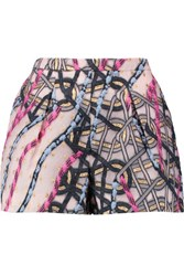 Peter Pilotto Circuit Metallic Brocade Shorts Baby Pink