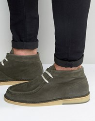 Selected Homme Ronni Suede Boots Green