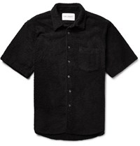 Our Legacy Cotton Blend Terry Shirt Black