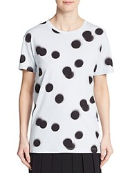 Marc By Marc Jacobs Blurred Polka Dot Tee Cloud Blue