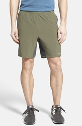Patagonia 'Nine Trails' Stretch Woven Running Shorts 8 Inch Basin Green