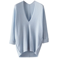 Poetry Cashmere Dolman Sleeve Jumper Soft Blue