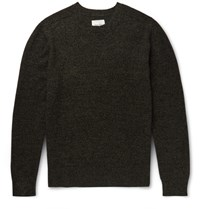 Steven Alan Aan Meange Woo And Cashmere Bend Sweater Army Green