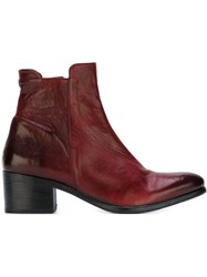 The Last Conspiracy Chunky Heel Boots Red