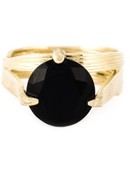 Wouters And Hendrix 'Bamboo' Onyx Set Of Rings Metallic