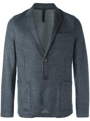 Harris Wharf London Patch Pockets Blazer Blue