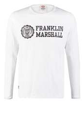 Franklin And Marshall Long Sleeved Top White