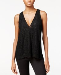 Rachel Roy Lace Front Tank Top Only At Macy's Black