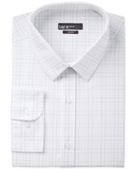 Bar Iii Men's Slim Fit White Check Dress Shirt Only At Macy's