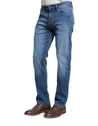 Heritage Courage Straight Leg Faded Jeans Dark Blue