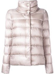 Herno Quilted Zip Up Puffer Jacket Nude Neutrals