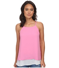 Gabriella Rocha Double Layer Camisole Pink White Women's Sleeveless