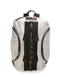 Givenchy Leather Backpack Duffle Bag White
