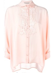 Ermanno Scervino Guipure Lace Detail Shirt Pink And Purple