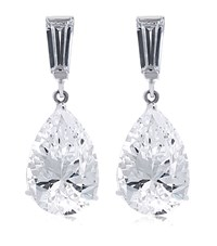 Carat 2Ct Pear Drop Earrings Female
