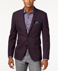 Bar Iii Men's Slim Fit Knit Soft Sport Coat Only At Macy's Purple