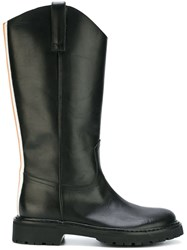 A.F.Vandevorst Back Stripe Boots Black