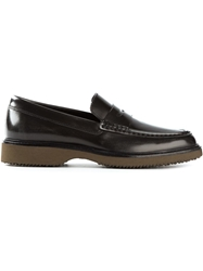 Hogan Classic Loafers Brown