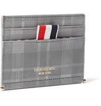 Thom Browne Checked Leather Cardholder Gray