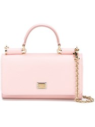 Dolce And Gabbana Mini 'Von' Wallet Crossbody Bag Pink And Purple