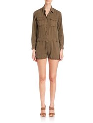The Kooples Military Short Jumpsuit Khaki